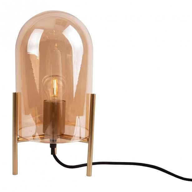 Skleněná stolní lampa ve zlaté barvě Leitmotiv Glass Bell