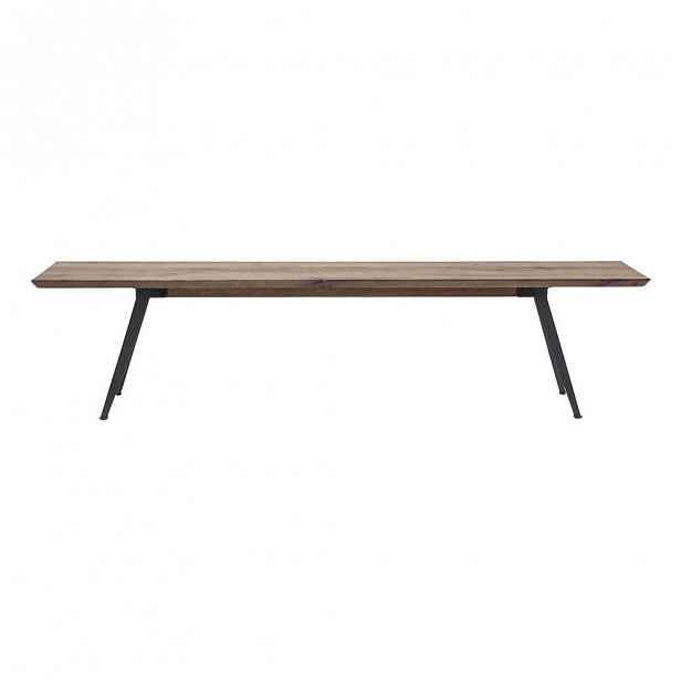 Lavice s deskou z dubového dřeva Kare Design Bank Gym, 200cm