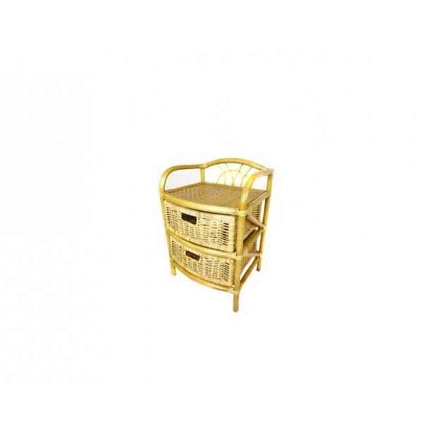 Ratanový prádelník 2 zásuvky, světlý med