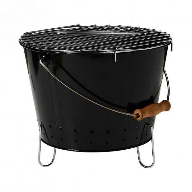 Butlers BBQ Přenosný gril s rukojetí - černá