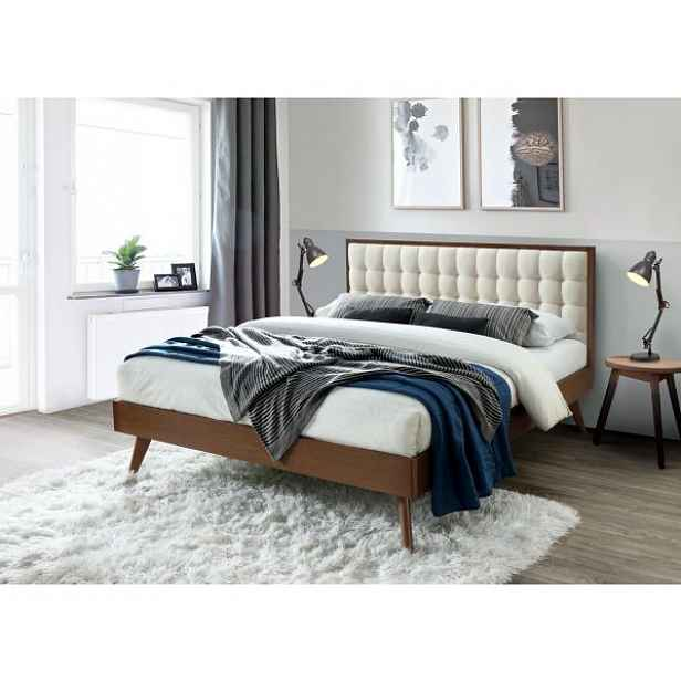 Designová čalouněná postel Salming, 160x200cm HELCEL