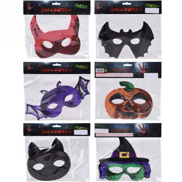 Maska s flitry Halloween