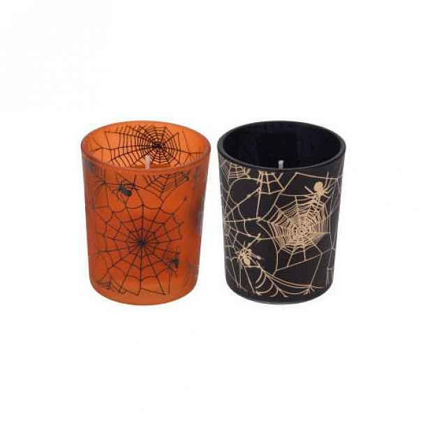 Svíčka ve skle Halloween 6,5cm