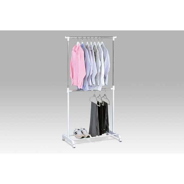 Stojan na šaty ABD-1213 WT, bílý plast/chrom