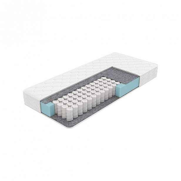 Středně tuhá matrace s taštičkovými pružinami Balance M Roll, 140 x 200 cm