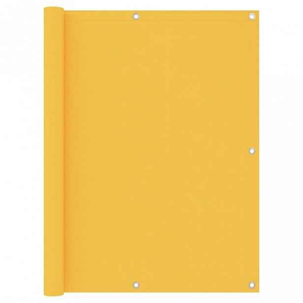 Balkónová zástěna 120 x 300 cm oxfordská látka Žlutá