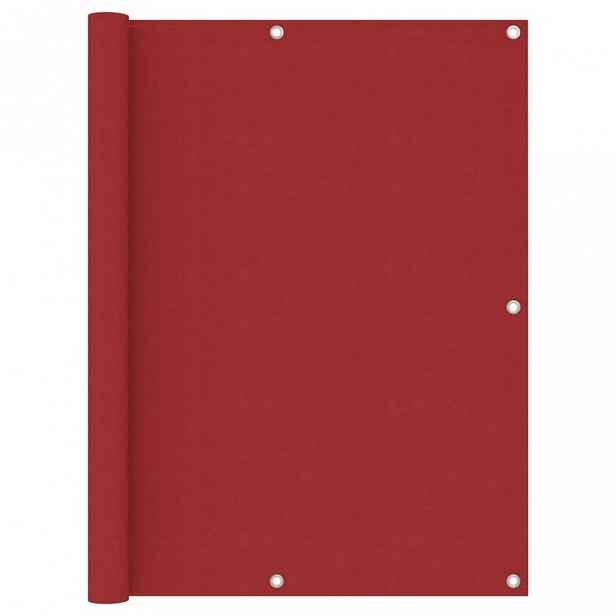 Balkónová zástěna 120 x 300 cm oxfordská látka Červená