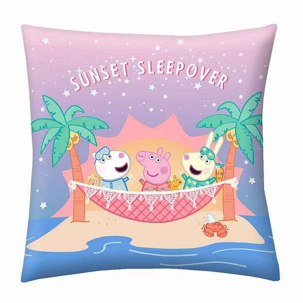 Herding Polštářek Peppa Pig Sunset Sleep Over, 40 x 40 cm