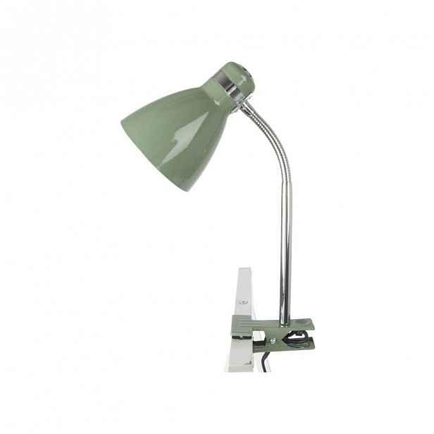 Zelená lampa se svorkou ETH Clip