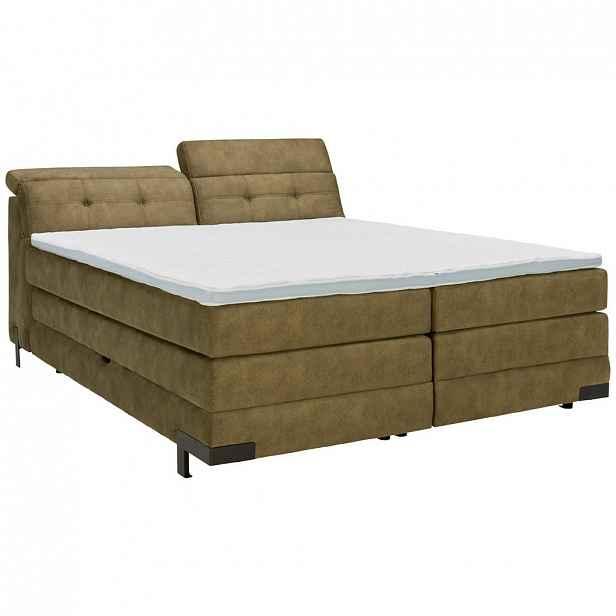 XXXLutz POSTEL BOXSPRING, 180/200 cm, textil, olivově zelená Esposa - Postele boxspring - 002307005101