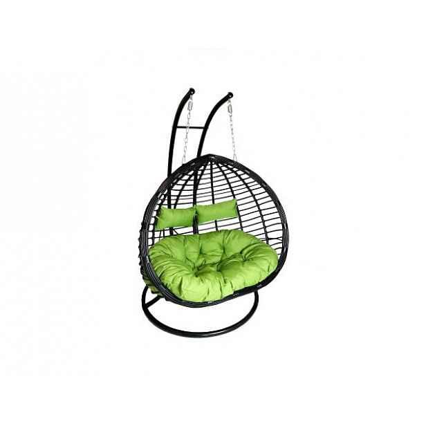 Závěsné relaxační křeslo TWIN - zelený sedák