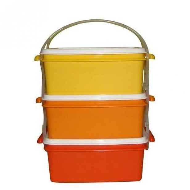 Plastový jídlonosič 3x1,2 l, 17 x 15 x 18,5 cm