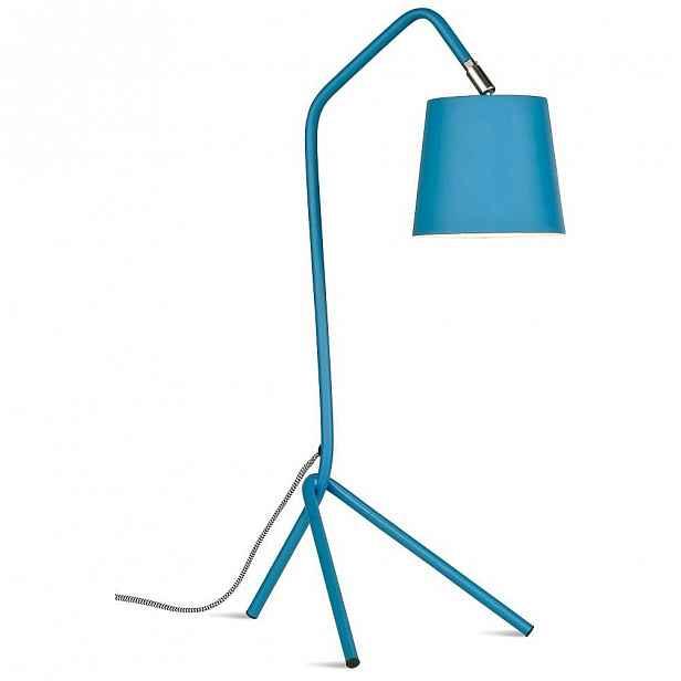 Modrá stolní lampa Citylights Barcelona