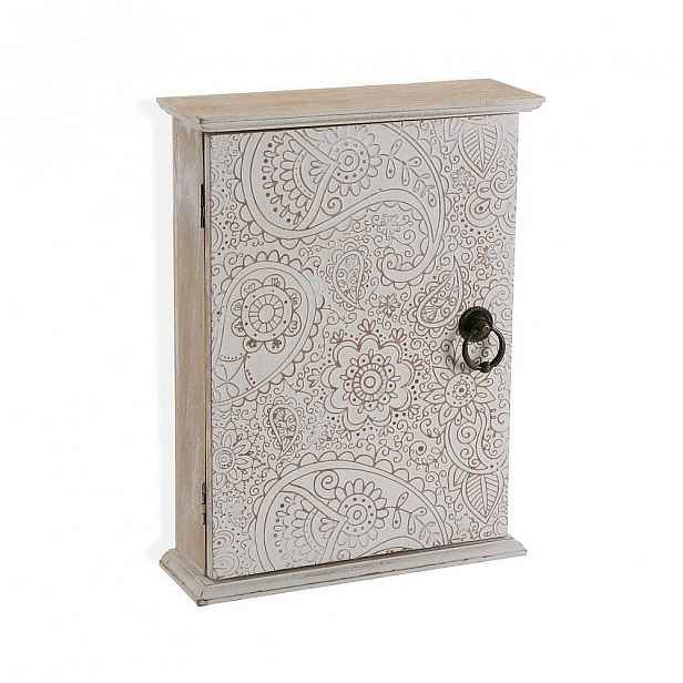Dřevěná nástěnná skříňka na klíče Versa Akantha