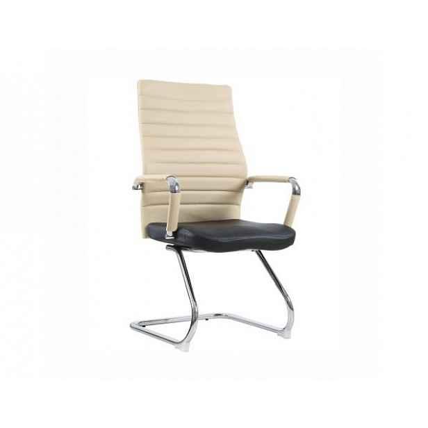 Zasedací židle, béžová / černá, Drugi - 60x57,5x105 cm