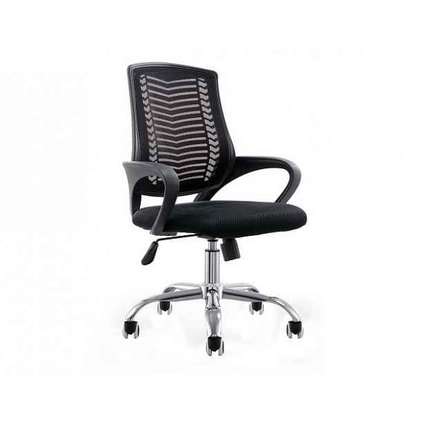 Kancelářské křeslo, černá / chrom, IMELA - 52x60x95-105 cm