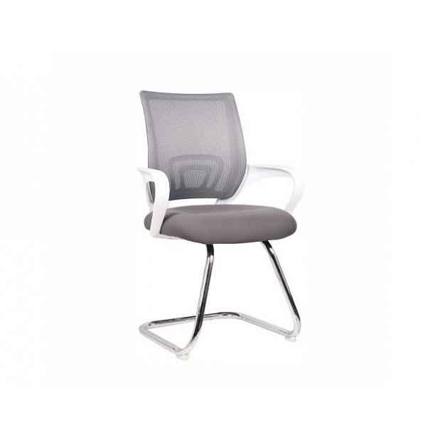 Zasedací židle šedá/bílá - 60x50x95 cm