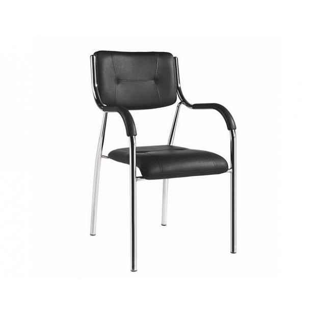 Stohovatelná židle, černá, ILHAM - 52x55x85 cm