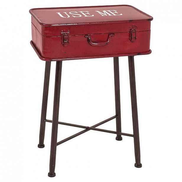 Carryhome Odkládací Stolek, Červená, Černá - Odkládací stolky - 001931033601