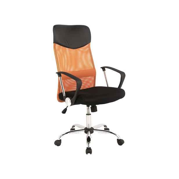 Kancelářské křeslo, oranžové/černé - Výška: 107-116 / 45-54cm Šířka: 62cm  Hloubka: 50cm