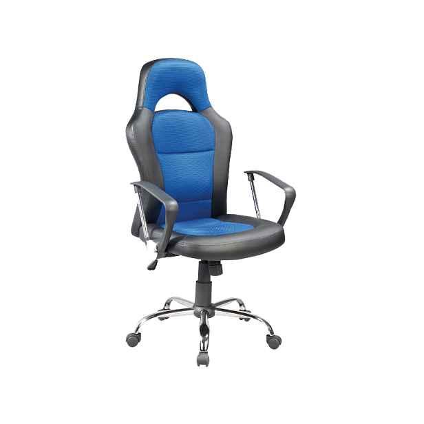 Kancelářské křeslo, modro/černé - Výška: 116-126 / 49-59cm Šířka: 63cm  Hloubka: 50cm