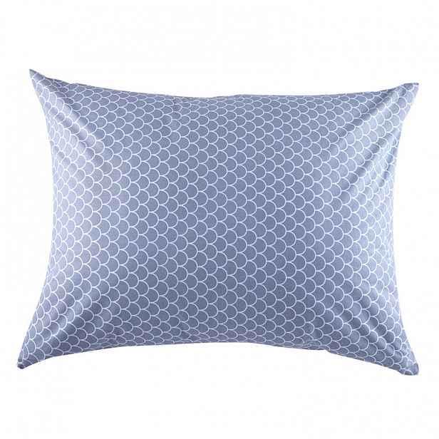 Bavlněné kombinovatelné povlečení ŠUPINY šedá polštář 70 x 90 cm