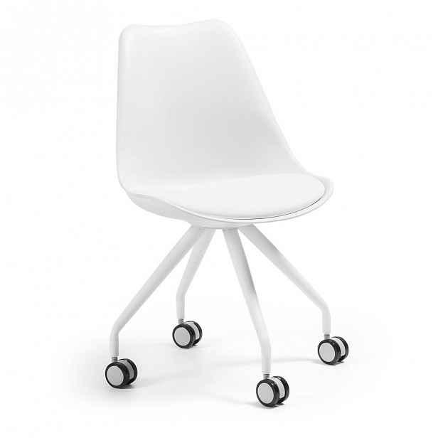 Bílá konferenční židle La Forma Lars - 48 cm