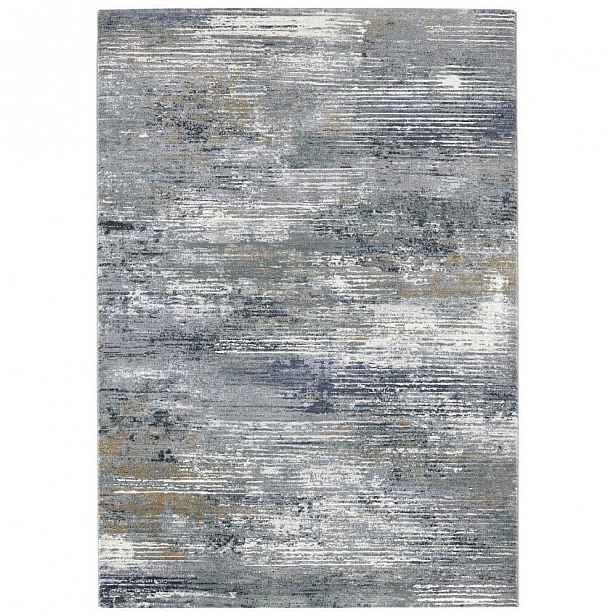 Šedo-modrý koberec Elle Decor Arty Trappes, 160 x 230 cm