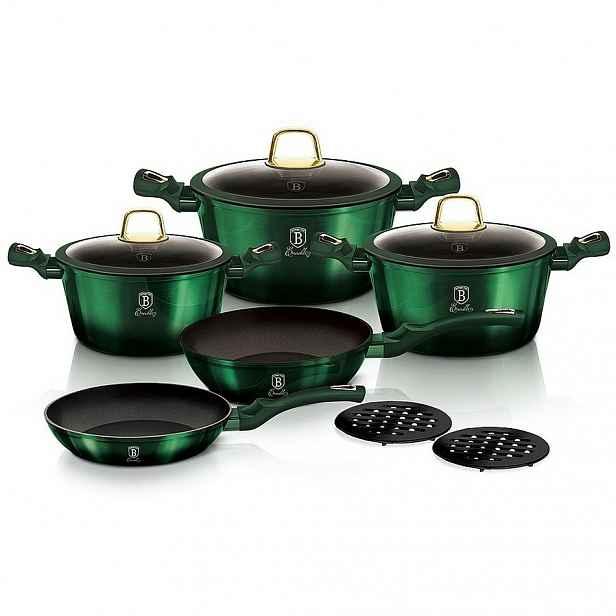 Berlinger Haus 10dílná sada nádobí Emerald Collection