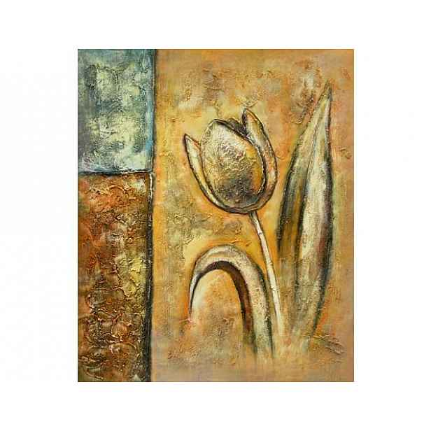 Obraz - Tulipán na stěně