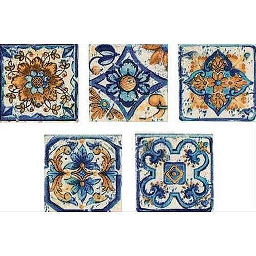 Dekor Multi Sumatra modrá 6x6 cm mat CTVER12