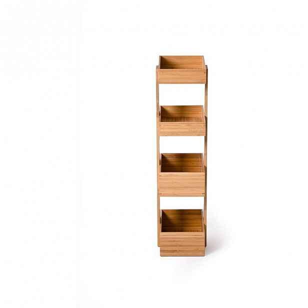 Čtyřpatrový bambusový stojan do koupelny Wireworks Caddy Bamboo
