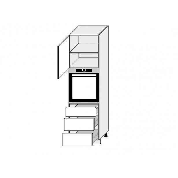 TITANIUM, skříňka dolní D14RU/3A, korpus: bílý, barva: fino bílé