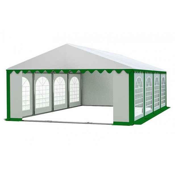 Zahradní párty stan 5x8m PREMIUM Bílá / zelená