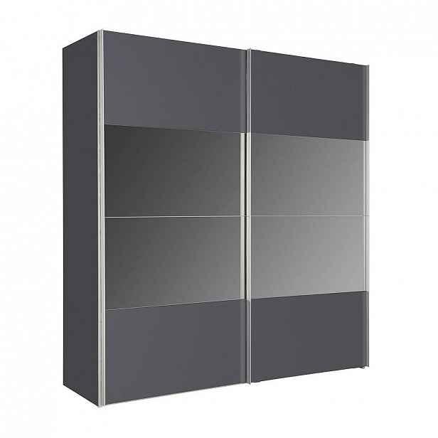 Hom`in Skříň S Posuvnými Dveřmi, Barvy Grafitu - Skříně s posuvnými dveřmi - 001172013707