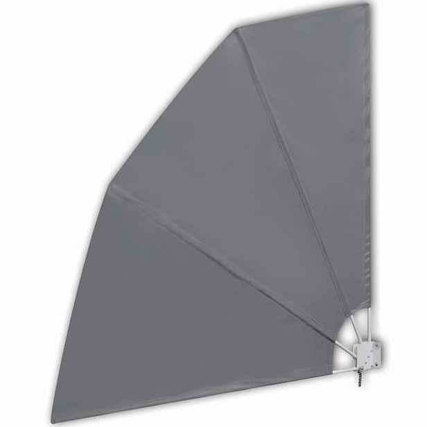 Skládací zástěna proti větru 210 x 210 cm Šedá