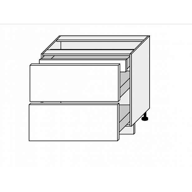 TITANIUM, skříňka dolní D2A 90/1A, korpus: lava, barva: fino bílé