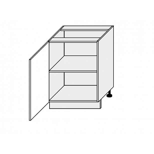 TITANIUM, skříňka dolní D1D 60, korpus: grey, barva: fino bílé