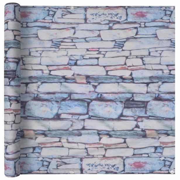 Balkónová zástěna 90 x 600 cm oxfordská látka Kamenná zeď