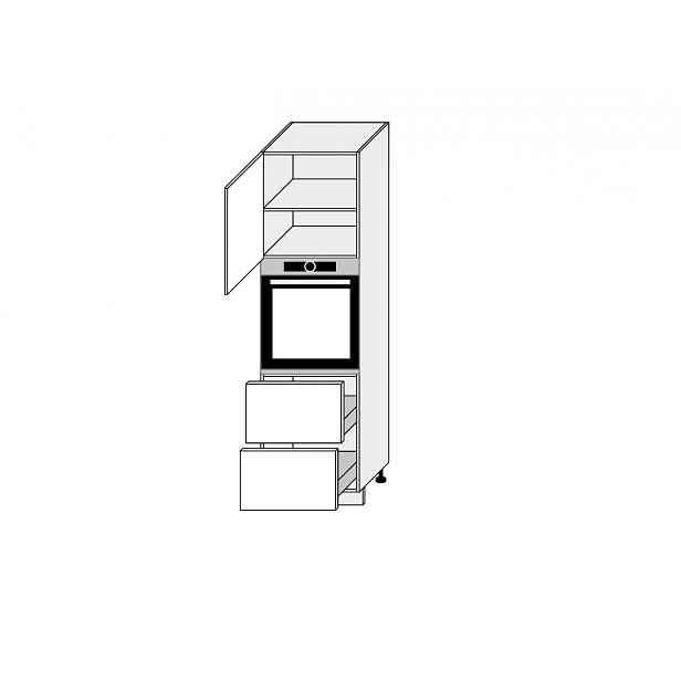 TITANIUM, skříňka dolní D14RU/2H-356, korpus: grey, barva: fino bílé