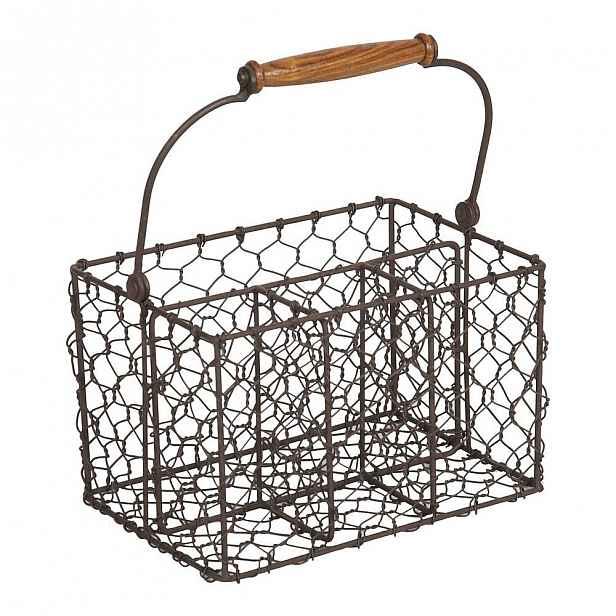 Kovový košík na příbory Antic Line Holdes