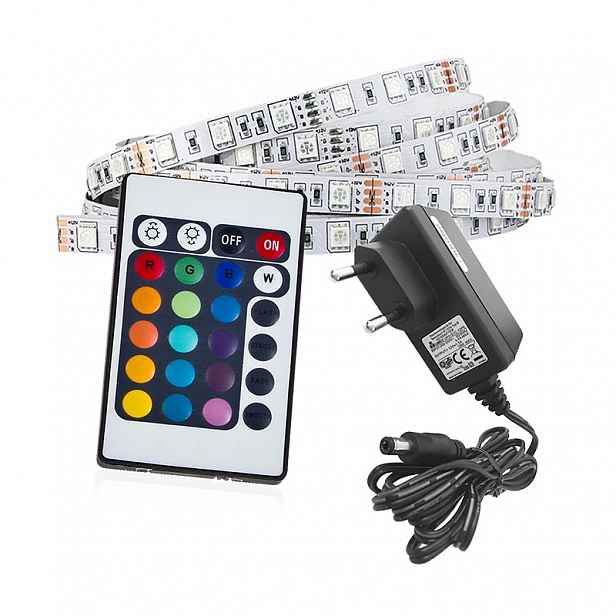 Sada LED pásek Led-Pol RGB, 3 000 K 4,8 W/m