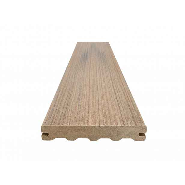 Prkno terasové dřevoplastové WOODPLASTIC FOREST PLUS PREMIUM teak