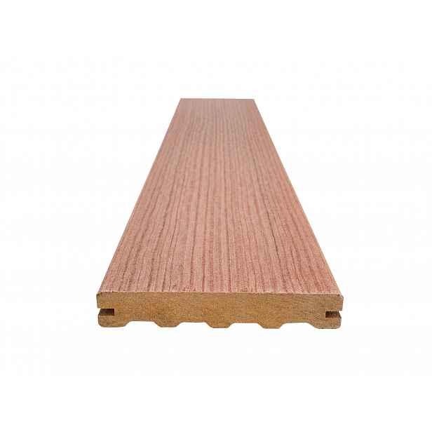Prkno terasové dřevoplastové WOODPLASTIC FOREST PLUS PREMIUM merbau