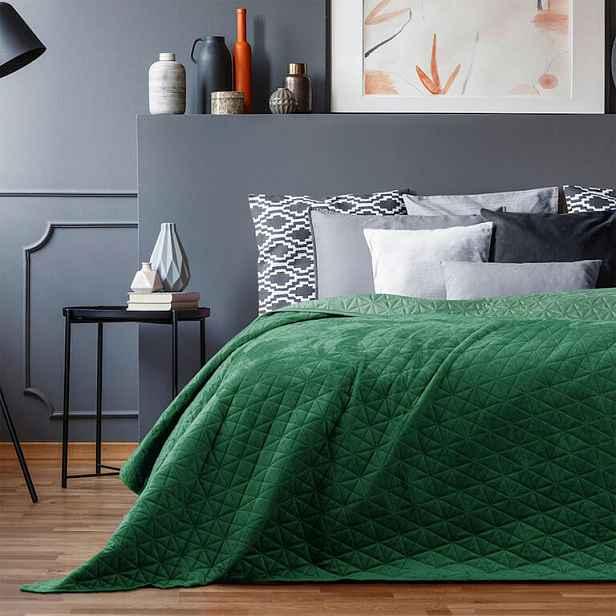 Přehoz na postel LAILA zelená 180 x 200 cm