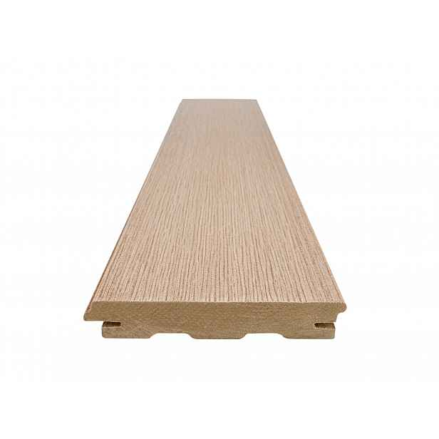 Prkno terasové dřevoplastové WOODPLASTIC RUSTIC TOP teak