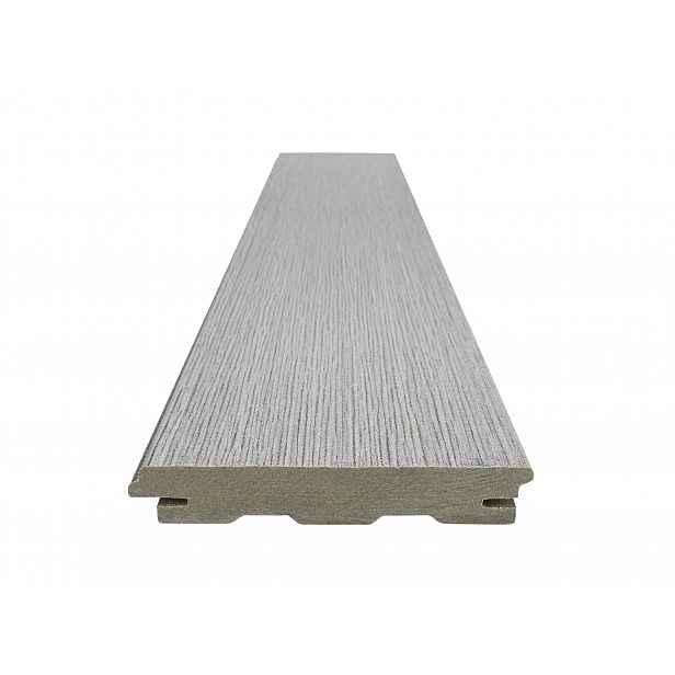Prkno terasové dřevoplastové WOODPLASTIC RUSTIC TOP inox