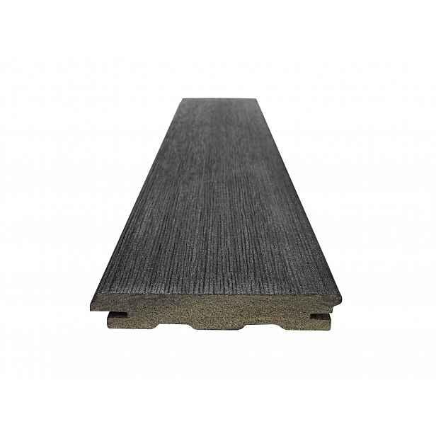 Prkno terasové dřevoplastové WOODPLASTIC RUSTIC TOP eben