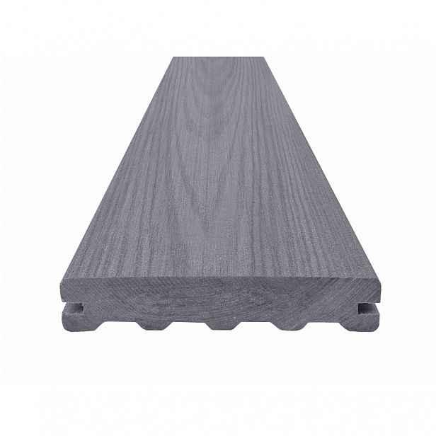 Prkno terasové dřevoplastové WOODPLASTIC NATUR PLUS PREMIUM inox