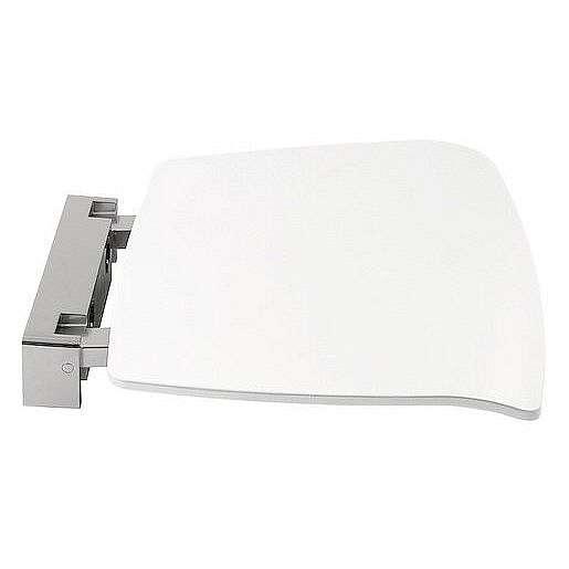 Polysan Sklopné sedátko do sprchového koutu 37x38cm, bílá,92877